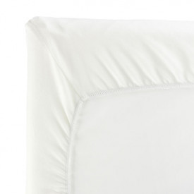 Fitted Sheet for Travel Cot - 105 x 60 cm - White