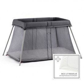 Travel Cot Easy Go Bundle - Anthracite