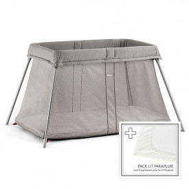 Travel Cot Easy Go Bundle - Greige