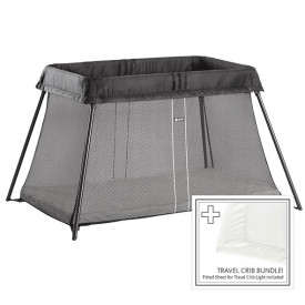 Travel Cot Easy Go Bundle - Black