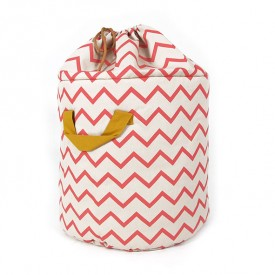 Baobab Toy Bag - Small - Pink Zigzag