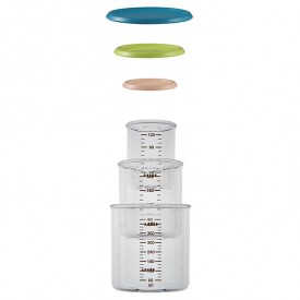 Set of 3 Conservation Jars - Blue / Neon / Nude