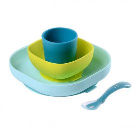 Silicone Meal Set 4 pcs - Blue