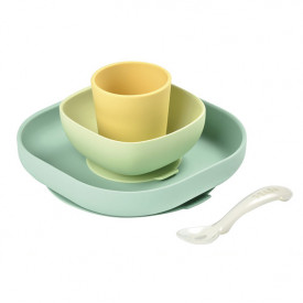 Silicone Meal Set 4 pcs - Yellow