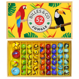 Box of 52 marbles - Jungle Yellow