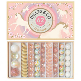 Box of 62 marbles - Licorne