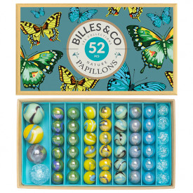 Box of 52 marbles - Butterflies