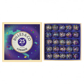 Box of 25 marbles - Cosmos