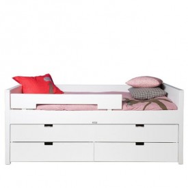 Bed 90 x 200 cm Combiflex with Underbed drawer & storage
