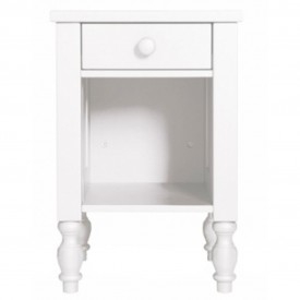 Belle White Bedside Table