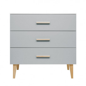 3 drawers dresser Emma - White/grey