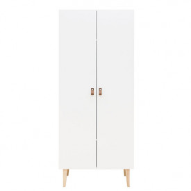 2 doors Wardrobe Indy - White/natural