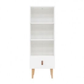 Bookcase Indy - White/natural