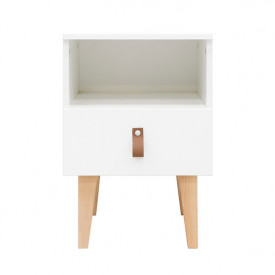 Night Table Indy - White/natural