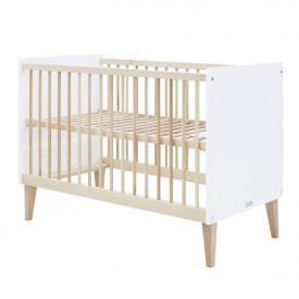 Cot 60x120cm Indy - White/natural