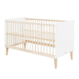 Convertible Cot 70x140cm Indy - White/natural