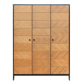 3 doors Wardrobe Job - Vintage Honey