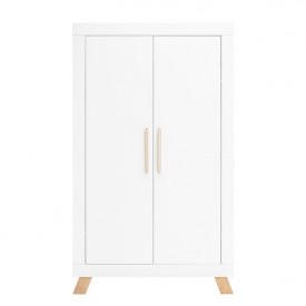 2 doors Wardrobe Lisa - White/natural