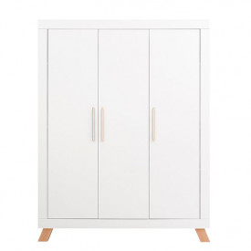 3 doors Wardrobe Lisa - White/natural