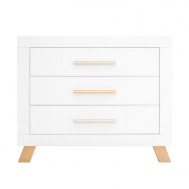 3 drawers dresser Lisa - White/natural
