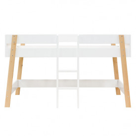 Mid-High Bed 90x200cm Lisa - White/natural