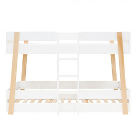 Bunk Bed 90x200cm Lisa - White/natural