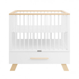 Playpen with drawer Lisa - White/natural