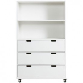 Chest on Wheels L Mix & Match - White