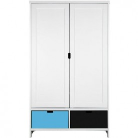 Wardrobe 2 Doors Mix & Match - White