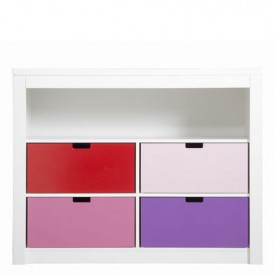 Cupboard 5 compartments Mix & Match - White