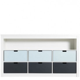 Triple Cupboard 7 compartments Mix & Match - White