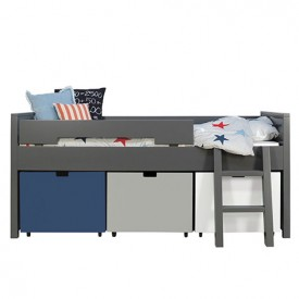 Compact Bed Timo 90 x 200 cm Mix & Match - Deep Grey