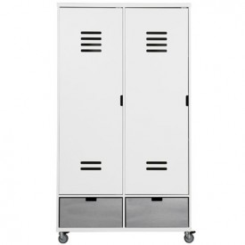 Wardrobe 2 Doors Locker Mix & Match - White