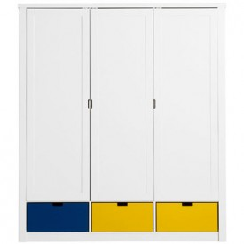 Wardrobe 3 Doors Luxe Mix & Match - White