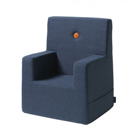 Kids Chair XL - Dark Blue / Orange