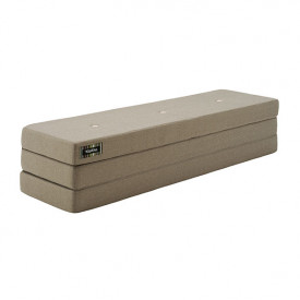 Mattress 3 Fold - Warm Grey / Peach