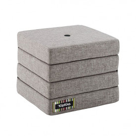 Mattress 4 Fold - Multi Grey / Grey