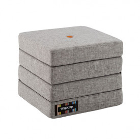 Mattress 4 Fold - Multi Grey / Orange