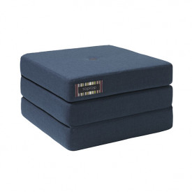 Mattress 3 Fold Single - Dark Blue / Black