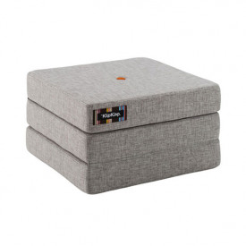 Mattress 3 Fold Single - Multi Grey / Orange