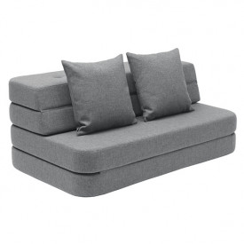 Sofa 3 Fold (120cm) - Blue Grey / Grey