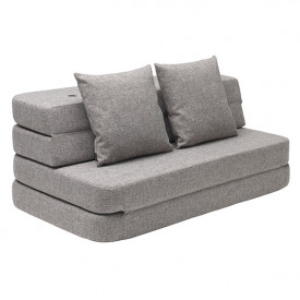 Sofa 3 Fold (120cm) - Multi Grey / Grey