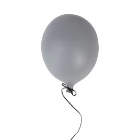Ceramic Balloon Decoration - L - Grey