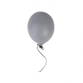 Ceramic Balloon Decoration - S - Grey