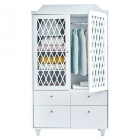Harlequin Wardrobe - White