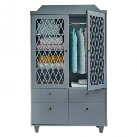Harlequin Wardrobe - Grey
