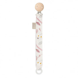 Pacifier Holder - Pressed Leaves Rose
