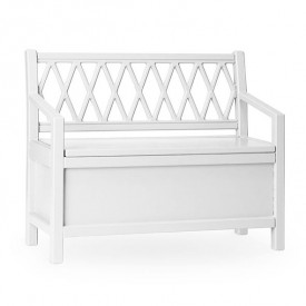 Harlequin Storage bench - White