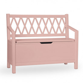 Harlequin Storage bench - Dusty Rose