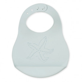 Star Fish Silicone Bib - Breeze